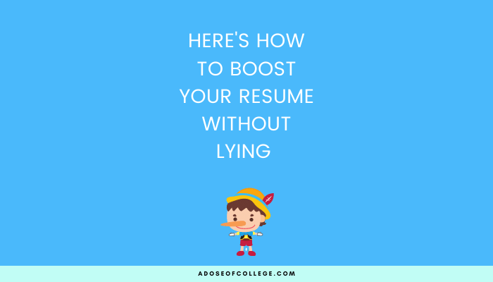 Here's how to boost your resume without lying 78