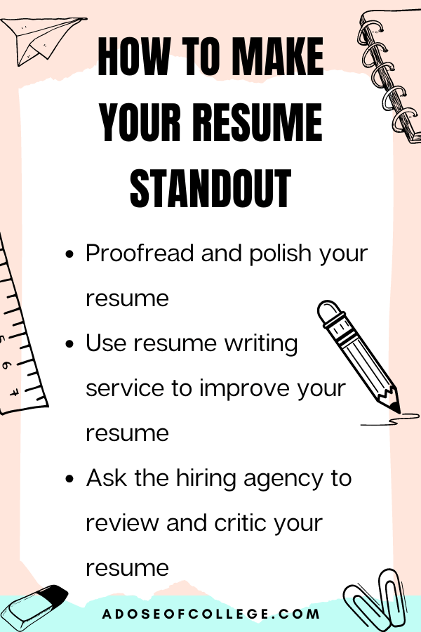 How to boost your college resume 3 of 7