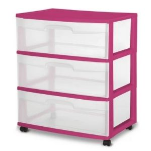 Keep your food fresh in a set of container drawers on wheels