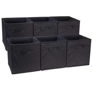 Use collapsible fabric storage cubes to organize your food