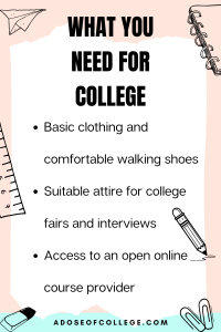 What You Actually Need For College 3 of 4