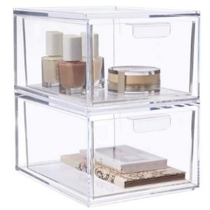 Dorm Room Storage - Stackable Shelf Containers