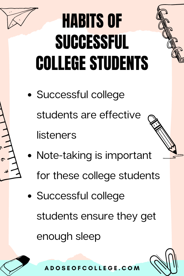 Habits Of Successful College Students 1 of 6