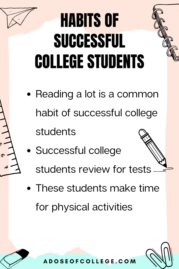 Habits Of Successful College Students 2 of 6