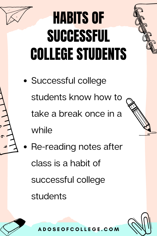 Habits Of Successful College Students 3 of 6