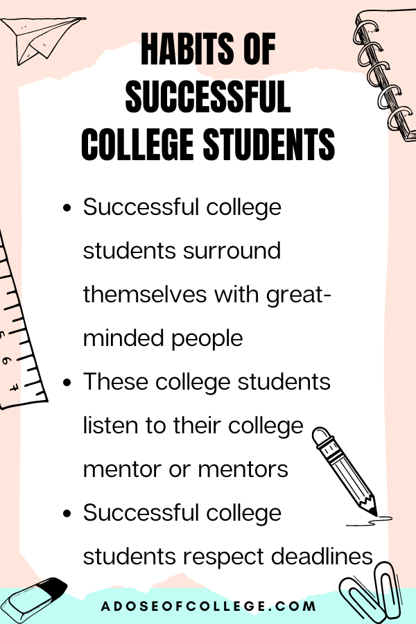 Habits Of Successful College Students 5 of 6