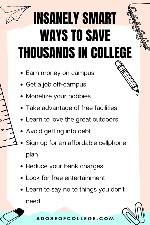 Save Money In College 2