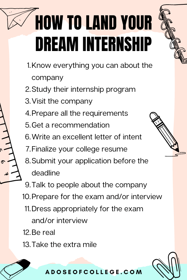 Tips For Landing Your Dream Internship In College 1 of 7