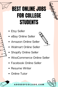 Online Jobs For College Students 2 of 6